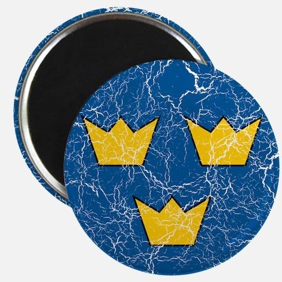 """Sweden Roundel 2.25"""" Magnet (10 pack)"""