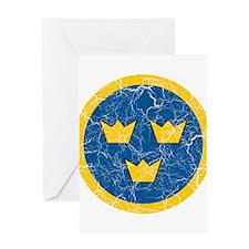 Sweden Roundel Greeting Card
