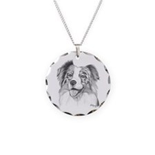 Australian Shepherd Necklace Circle Charm