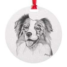 Australian Shepherd Round Ornament