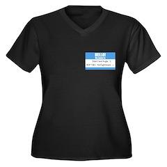 Personalizable SQLi Name Tag Women's Plus Size V-N