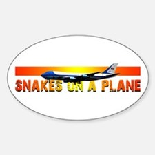 Snakes on a plane Oval Decal