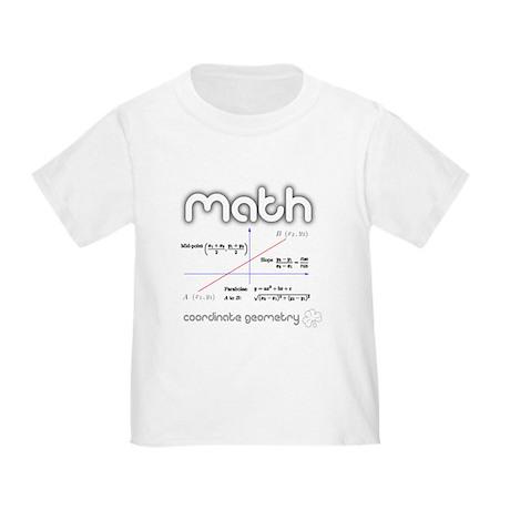 Math Coordinate Geometry Toddler T-Shirt