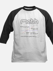 Math Coordinate Geometry Kids Baseball Jersey