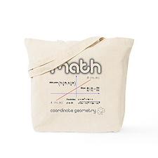 Math Coordinate Geometry Tote Bag