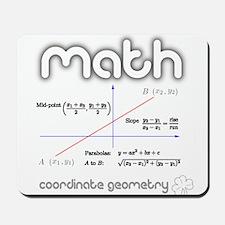 Math Coordinate Geometry Mousepad
