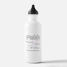 Math Coordinate Geometry Sports Water Bottle