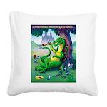 DragonWins Square Canvas Pillow