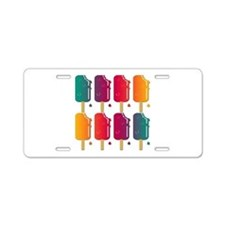 Popsicles Aluminum License Plate