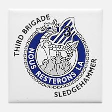 3ID-3rd. Brig. Sledgehammer Tile Coaster