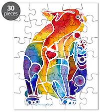 LOVE CAT Bright Colors Puzzle