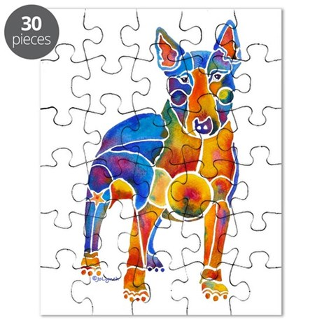 English Bull Terrier Art Gifts Puzzle