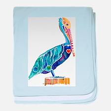 Pelican4Cafe.jpg baby blanket