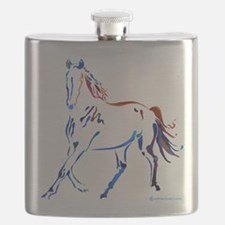 Horse of Many Colors Flask