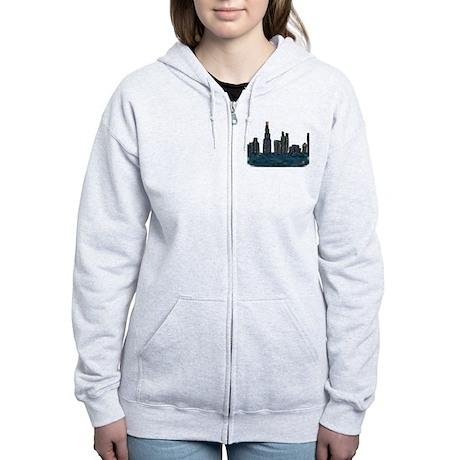 CITYMELTS CHICAGO SKYLINE Women's Zip Hoodie