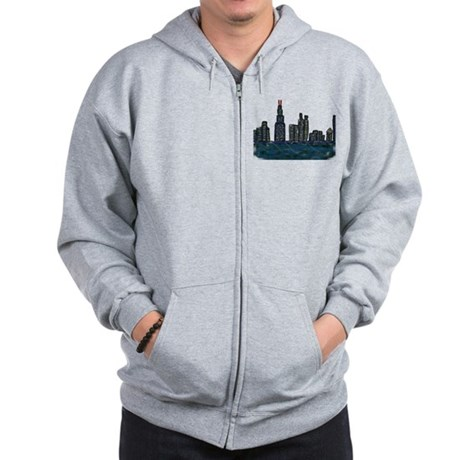 CITYMELTS CHICAGO SKYLINE Zip Hoodie