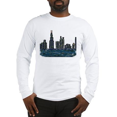 CITYMELTS CHICAGO SKYLINE Long Sleeve T-Shirt