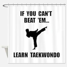 Learn Taekwondo Shower Curtain