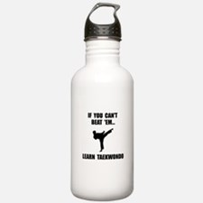 Learn Taekwondo Water Bottle