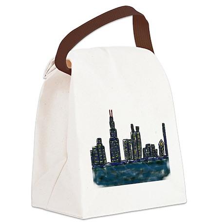 CITYMELTS CHICAGO SKYLINE Canvas Lunch Bag