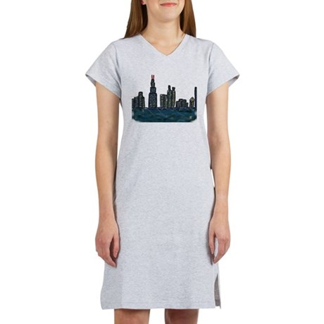 CITYMELTS CHICAGO SKYLINE Women's Nightshirt