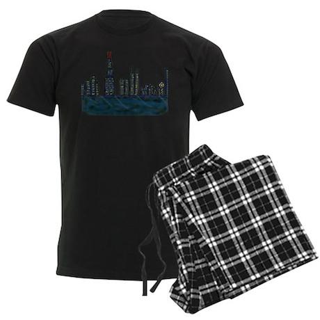 CITYMELTS CHICAGO SKYLINE Men's Dark Pajamas
