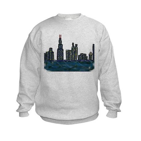 CITYMELTS CHICAGO SKYLINE Kids Sweatshirt