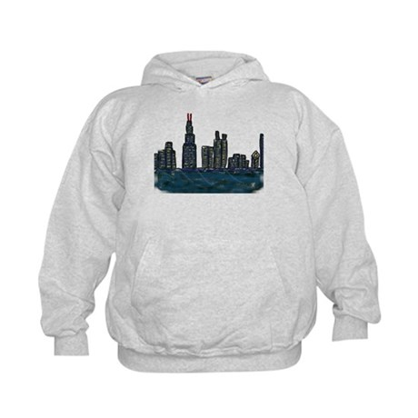 CITYMELTS CHICAGO SKYLINE Kids Hoodie