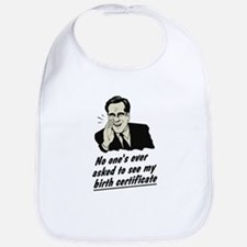 Romney Birth Certificate Bib