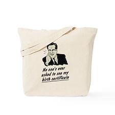 Romney Birth Certificate Tote Bag