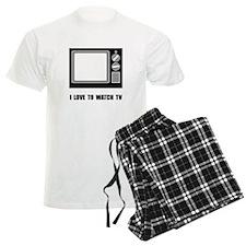 Love To Watch TV Pajamas