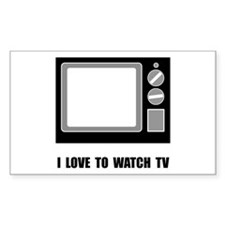 Love To Watch TV Decal