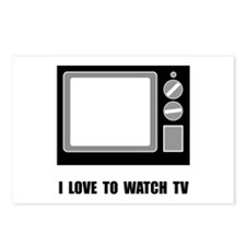 Love To Watch TV Postcards (Package of 8)