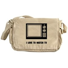 Love To Watch TV Messenger Bag