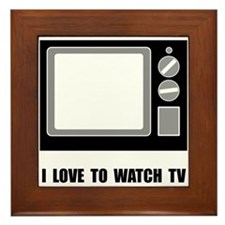 Love To Watch TV Framed Tile