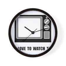 Love To Watch TV Wall Clock
