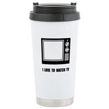 Love To Watch TV Travel Mug
