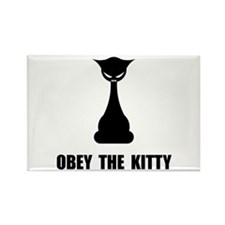 Obey The Kitty Rectangle Magnet (100 pack)