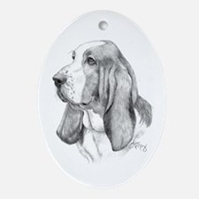 Basset Hound Ornament (Oval)