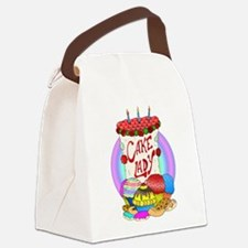 cakelady.png Canvas Lunch Bag