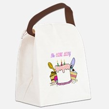 cake lady.png Canvas Lunch Bag