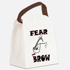 FEARTHEBROW.png Canvas Lunch Bag