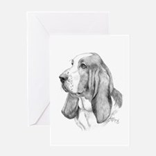 Basset Hound Card Greeting Cards