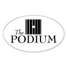 The Podium Oval Decal