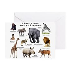 Animals of the African Savannas Greeting Card