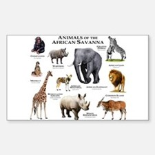 Animals of the African Savannas Decal