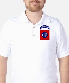 82nd Airborne Golf Shirt