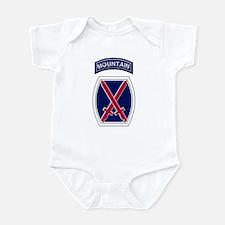 10th Mountain Infant Bodysuit