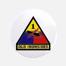 """1st Armored Division 3.5"""" Button"""