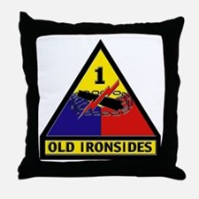 1st Armored Division Throw Pillow
